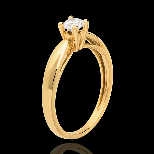 Solitaire roseau or jaune 18 carats (TGM) - 0.31 carat
