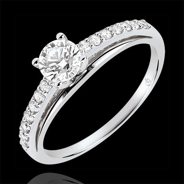 Solitaire Verlobungsring - Avalon - Diamant 0.4 Karat - Weißgold 18 Karat