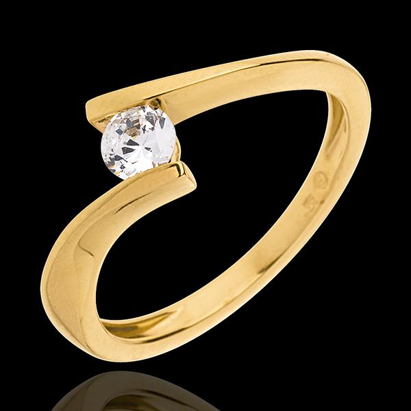 Solitär Kostbarer Kokon - Apostroph - Gelbgold - Diamant 0.25 Karat - 18 Karat