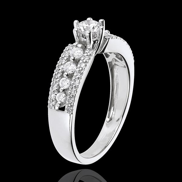 Solitär Schicksal - Zarin - Weißgold - Diamant 0.27 Karat