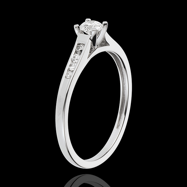 Solitario Altezza - Oro bianco pavé - 18 carati - 9 Diamanti - 0.31 carati