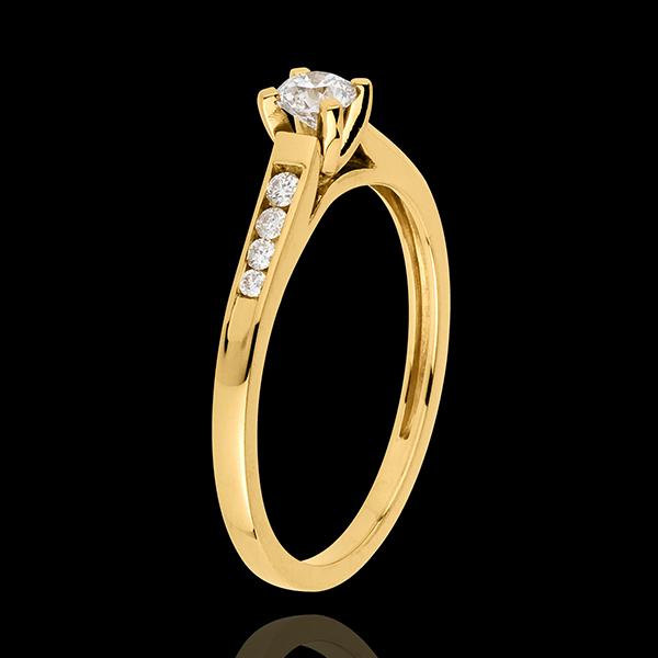 Solitario Altezza oro giallo - 9 carati