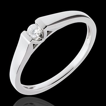 Solitario Arco - Oro bianco - 18 carati - Diamante