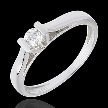 Solitario Caldera - Oro bianco - 18 carati - Diamante - 0.19 carati