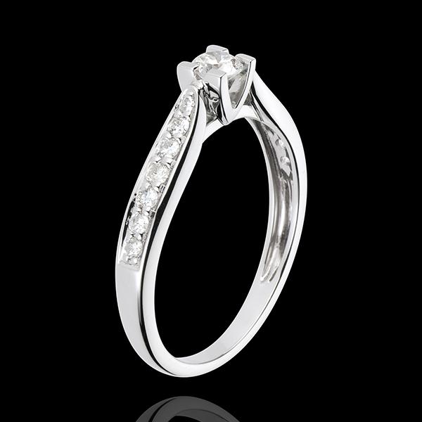Solitario Contessa - Oro bianco - 18 carati - 15 Diamanti - 0.41 carati