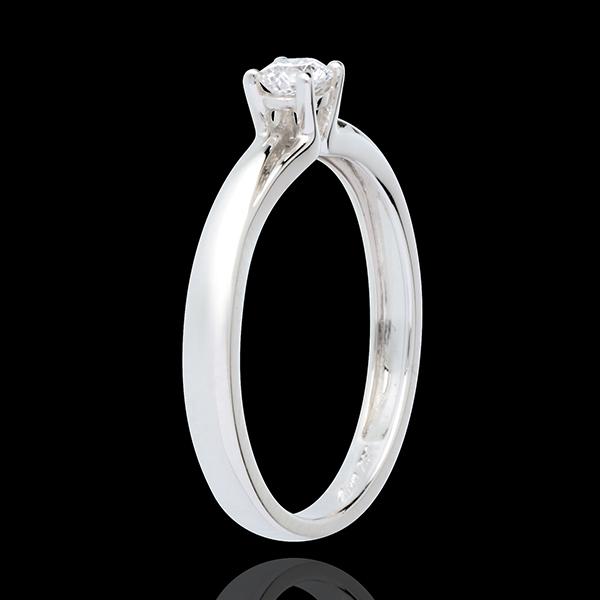 Solitario Edelweiss - Oro bianco - 18 carati - Diamante - 0.21 carati