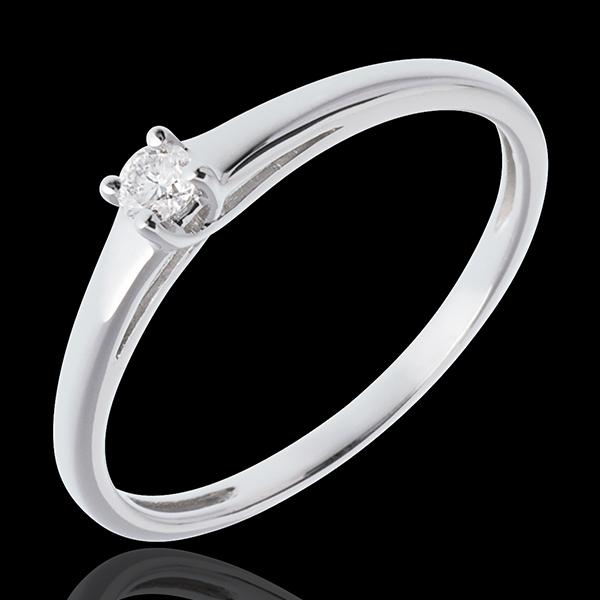 Solitario l'Essenziale - Oro bianco - 18 carati - Diamante - 0.08 carati