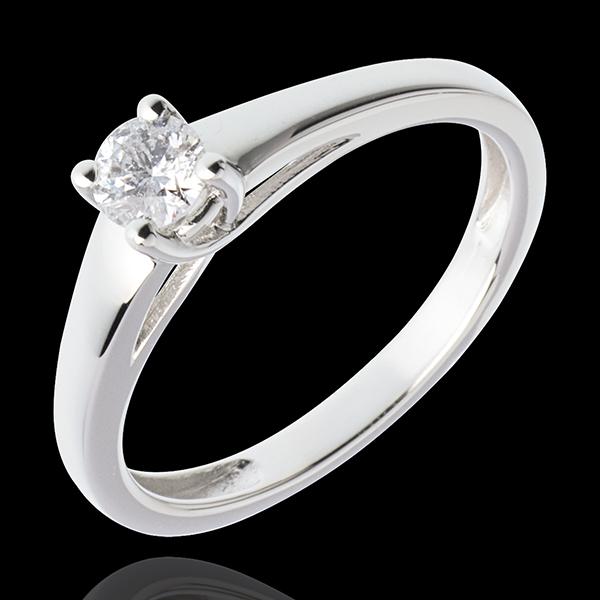 Solitario l'Essenziale - Oro bianco - 18 carati - Diamante - 0.25 carati