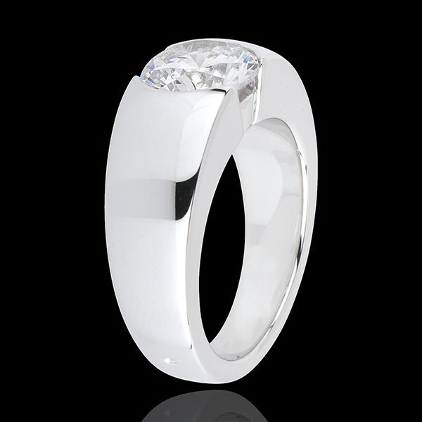 Solitario Infinito Era - Oro bianco - 18 carati - 1 Diamante - 2 carati