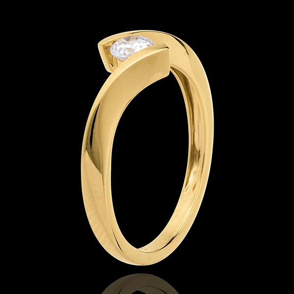 Solitario Nido Precioso - Apóstrofe - oro amarillo 18 quilates - diamante 0.25 quilates