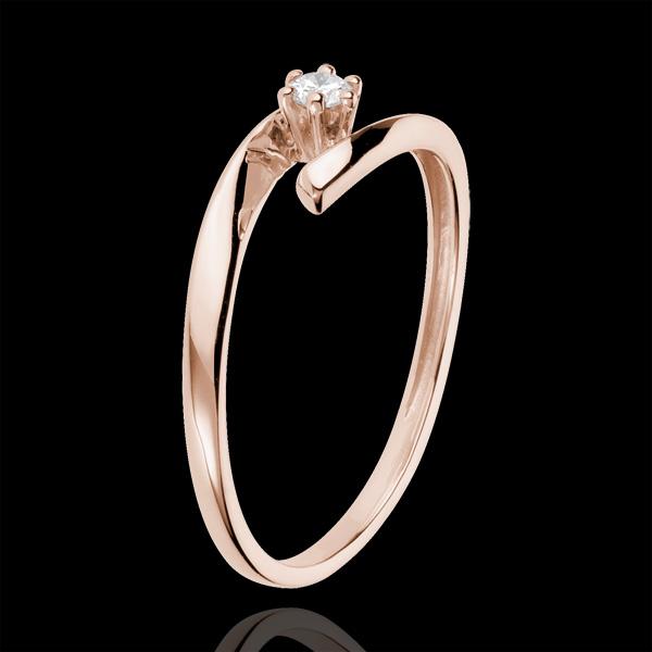 Solitario Nido Precioso - Orion - oro rosa 18 quilates