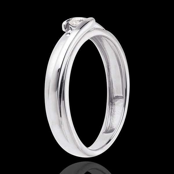 Solitario Nido Prezioso - Bipolare - Oro bianco - 18 carati - Diamante