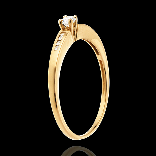 Solitario Octave oro amarillo - 9 diamantes