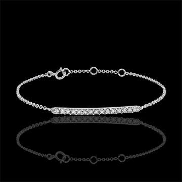 Sprankelende 9 karaat witgouden armband - 15 Diamanten