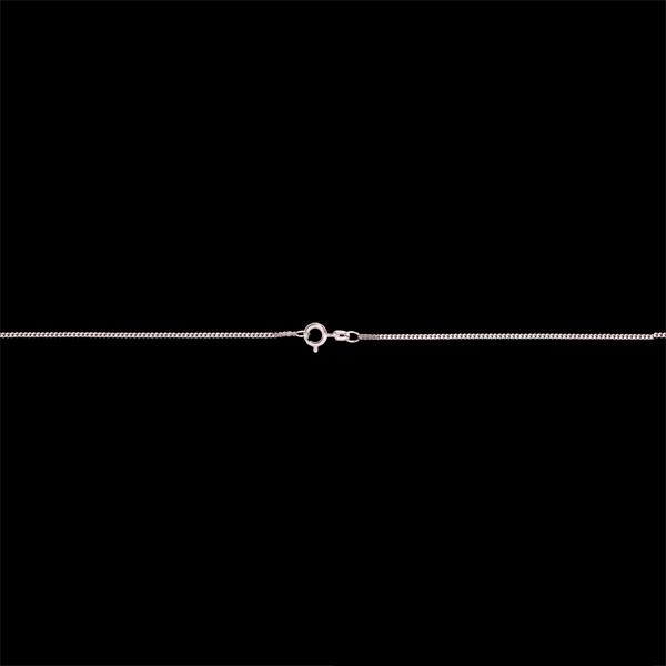 Średni łańcuszek pancerka z białego złota 18-karatowego - 42 cm