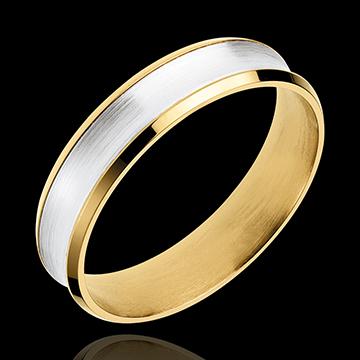 Ring Dandy aus Gelbgold und Weissgold - 5mm