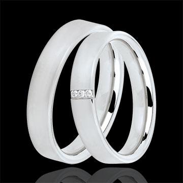 Trauringe Kaschmir 3 Diamanten
