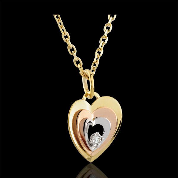 Tri-gold Boudoir Heart Pendant