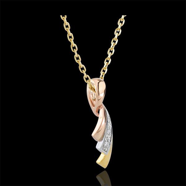 Tri-gold Ribbon Pendant