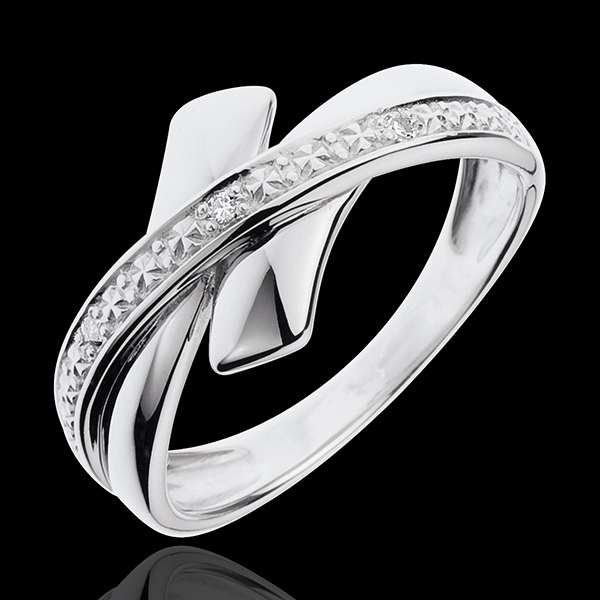 Tribal Initiation Ring - 18 karaat witgoud met diamanten