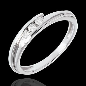 Trilogía Nido Precioso - Bipolar - oro blanco 18 quilates - 3 diamantes
