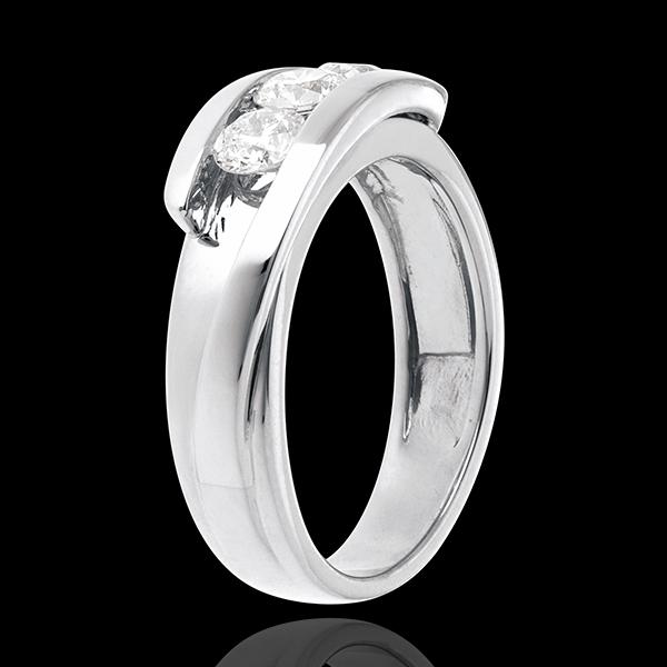 Trilogie Liefdesnest - Tweepolig -18 karaat 18 karaat witgoud - 3 Diamanten 0.77 karaat