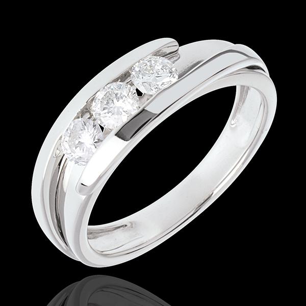 Trilogie Liefdesnest - Tweepolig - 18 karaat witgoud - 0.54 karaat 3 Diamanten