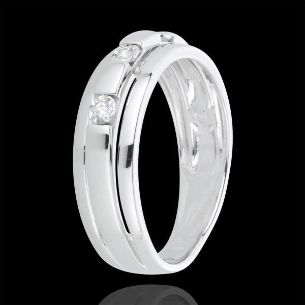 Trilogie Ring Byzantium - 18 karaat witgoud met diamanten
