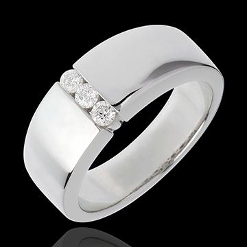 Trilogy Infinito Abbraccio - Oro bianco - 18 carati - 3 diamanti - 0.16 carati