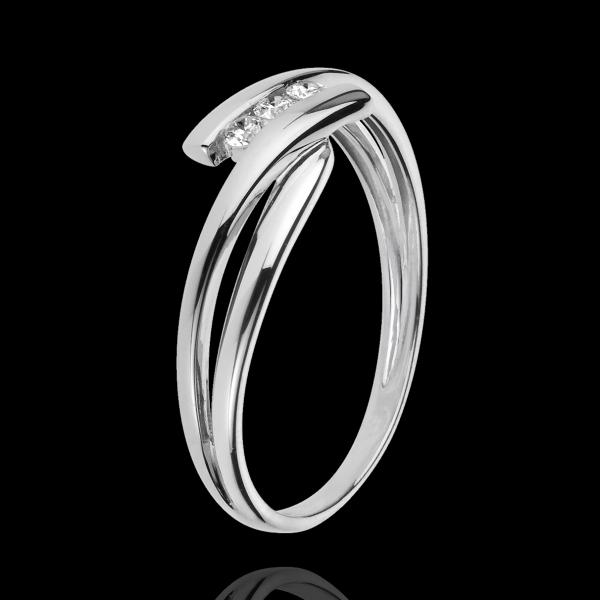 Trilogy Ring Precious Nest - Tango - white gold - 0.07 carat - 9 carats