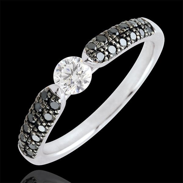 Triumphal Black Diamond Solitaire Ring - 0.25 carat