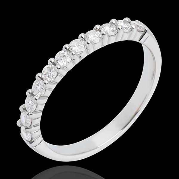 Trouwring 18 karaat witgoud bezet - pootjes - 0.4 karaat - 11 Diamanten