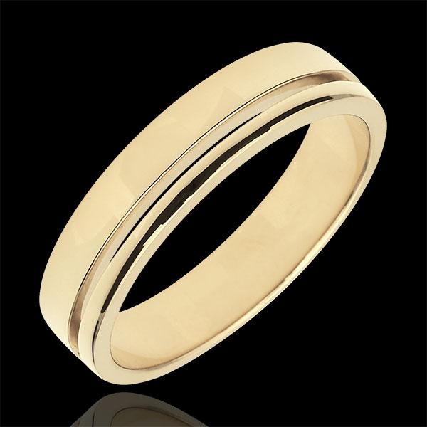 Trouwring Olympia - Gemiddeld model - geelgoud - 9 karaat goud
