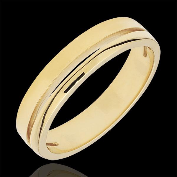 Trouwring Olympia - Klein model - geelgoud - 18 karaat goud