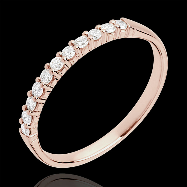Trouwring rozégoud 11 Diamanten - 18 karaat goud