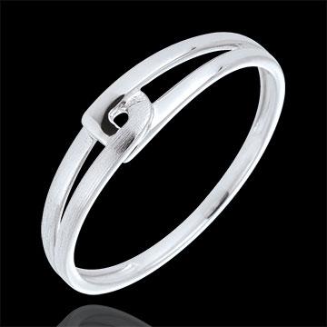 Ring Modernity Wit Goud