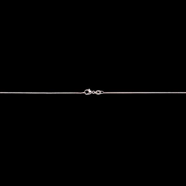 Venetiaanse Ketting 18 karaat witgoud gemiddeld - 42 cm