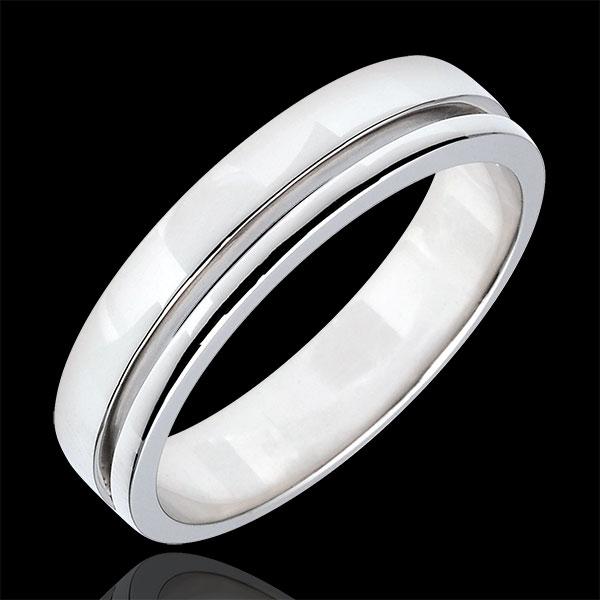 Verighetă Olympia - Model mediu - aur alb de 9K