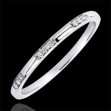 Verighetă Origini - Domnişoară - aur alb 18K şi diamante