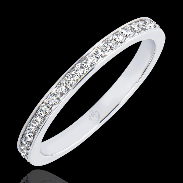 Verighetă Origini - Strălucire - aur alb 9K şi diamante