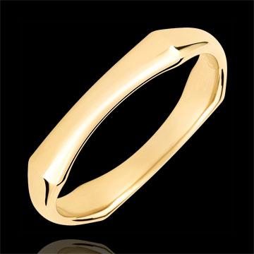 Verighetă pentru bărbaţi Junglă Sacră - 4 mm - aur galben de 18K