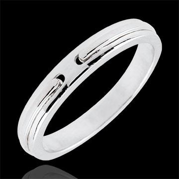 Verighetă Promisiune - aur alb de 9K - model mic