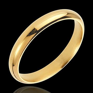 Verighetă Vals aur galben de 18K