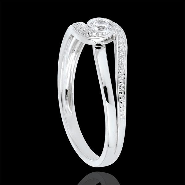 Verlobungsring Kostbarer Kokon Teuerste Weissgold Diamant 0 12