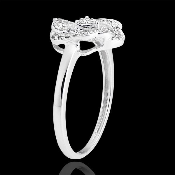 Verlobungsring Frische - Nina - 375er Weißgold und Diamanten