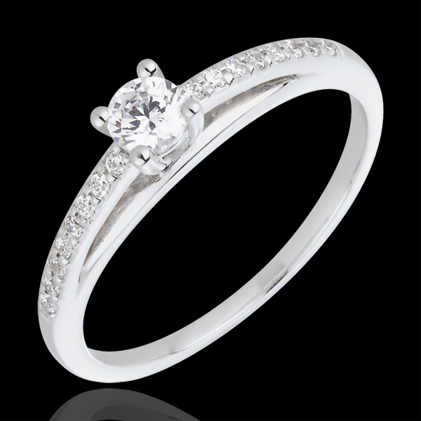 Verlovingsring - Avalon - 0,195 karaat Diamant - 18 karaat witgoud met Diamant