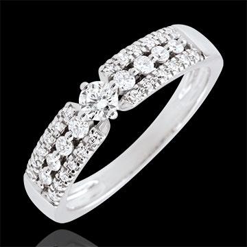 Verlovingsring Destiny - Medici - 9 karaat witgoud - centrale Diamant 0.10 karaat