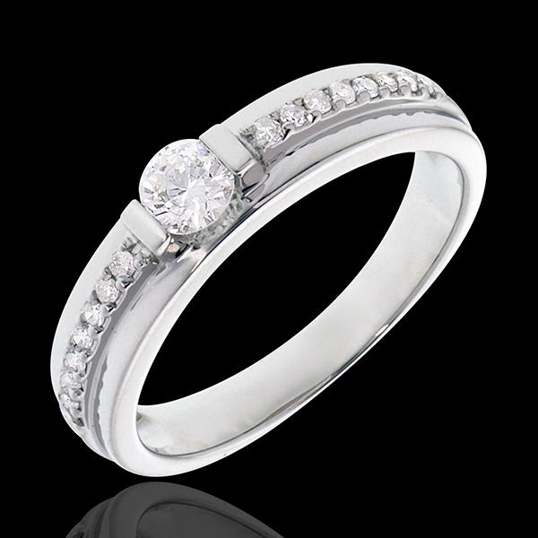 Verlovingsring Destiny - Solitaire - Eugenie - 0.22 karaat Diamant witgoud