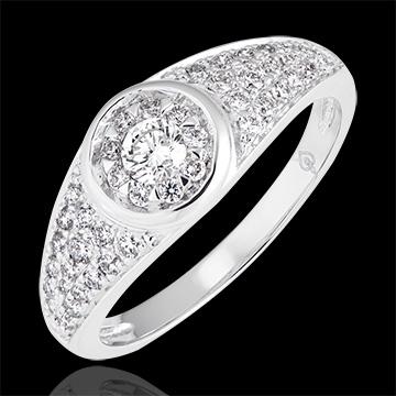 Verlovingsring Leven - Appoline - wit goud 9 karaat en diamanten