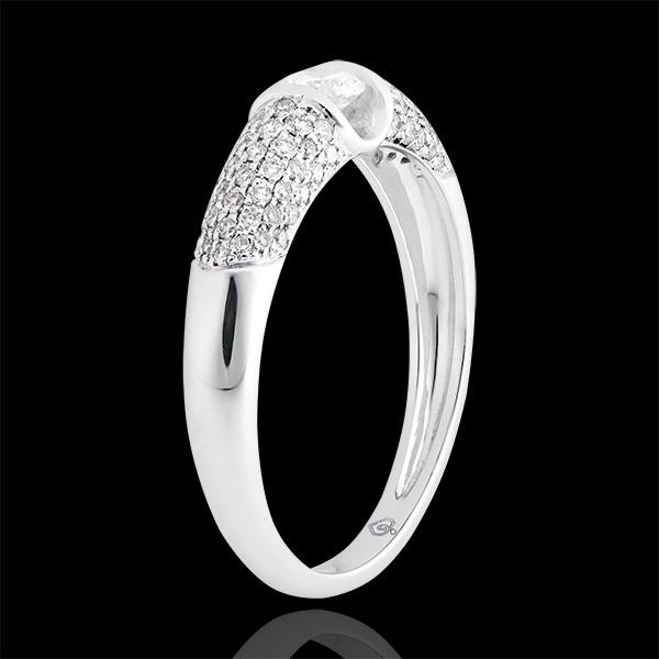 Verlovingsring Leven - Diane - wit goud 18 karaat en diamanten